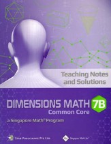 Dimensions Math CC Teaching Notes & Solutions 7B