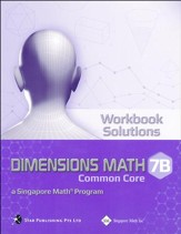 Dimensions Math Common Core Workbook Solutions 7B