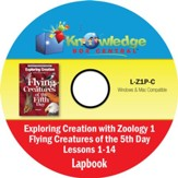 Exploring Creation with Zoology 1: Flying Creatures of the 5th Day Lapbook Package (Lessons 1-14) CD-Rom