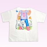 God Loves Me Shirt, Girl, 4T
