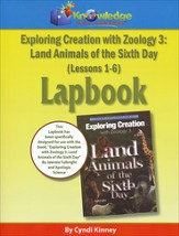 Exploring Creation with Zoology 3: Land Animals of the  6th Day Lessons 1-6 Lapbook