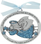 Protect Me While I Sleep Crib Charm, Blue Angel