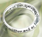 Dear Mom, You Always Will Be Cherished Ring, Size 9