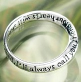Dear Friend, You Always Will Be Cherished Ring, Size 7