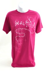 Beautiful, Isaiah 52:7 Shirt, Berry, XX Large