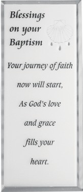 Blessings on Your Baptism Mirrored Plaque