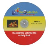 Thanksgiving Fun Activity Book CDROM