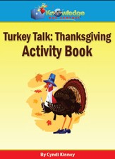 Thanksgiving Turkey Talk Activity Book CDROM