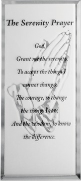 Serenity Prayer Mirrored Plaque