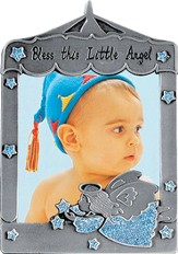 Bless This Little Angel Photo Frame, Angel Blue