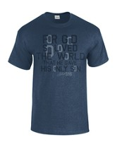 For God So Loved the World Shirt, Navy, XX-Large