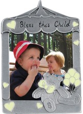 Bless This Little Angel Photo Frame, Bear Glow