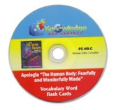 Apologia Human Body Vocabulary Word Flash Cards PDF CDROM