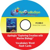 Apologia Exploring Creation With Marine Biology Vocabulary Word Flash Cards PDF CDROM