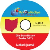 Ohio State History Lapbook Journal PDF CDROM