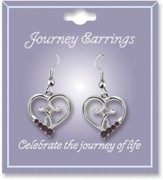 Journey Birthstone Earrings, January