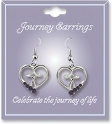 Journey Birthstone Earrings, February