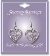 Journey Birthstone Earrings, April
