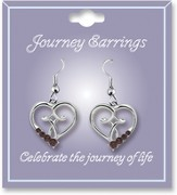 Journey Birthstone Earrings, July