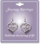 Journey Birthstone Earrings, December