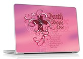 Faith, Hope, Love Laptop Skin