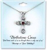Cross Birthstone Pendant, January