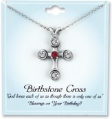 Cross Birthstone Pendant, July