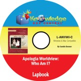 Apologia Worldview: Who Am I? Lapbook PDF CD-ROM