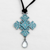 My Faith is Big and Bold Pendant, Teal