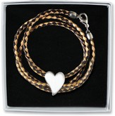 Wrap Bracelet with Heart Charm