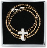 Wrap Bracelet with Cross Charm