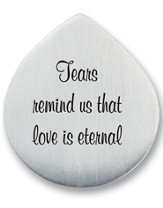 Tears Remind Us that Love is Eternal Photo Pocket Token