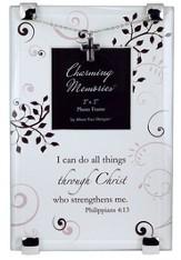 Philippians 4:13 Photo Frame w/Cross