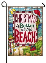 Christmas At the Beach Flag, Small