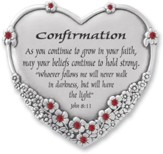 Confirmation Heart Plaque, John 8:11