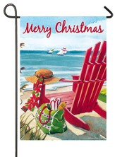 Coastal Christmas, Chair Flag, Small