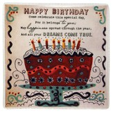Birthday Ceramic Tile