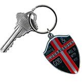 Be Strong and Courageous Shield Key Ring