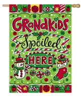 Grandkids Spoiled Here, Christmas Flag, Large