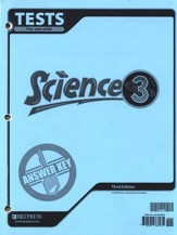 BJU Science Grade 3 Tests Answer Key, Third Edition