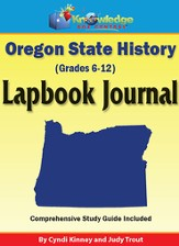 Oregon State History Lapbook Journal (Printed Edition)