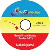 Hawaii State History Lapbook Journal PDF CD-ROM