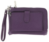Wristlet with Cross Charm, Purple