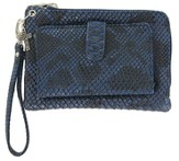 Wristlet with Cross Charm, Blue