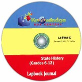 Massachusetts State History Lapbook Journal PDF CDROM