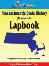 Massachusetts State History Lapbook (Printed Edition)