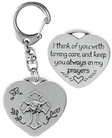 I Think of You With Loving Care Keyring