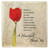 Heartfelt Thank You Ceramic Tile