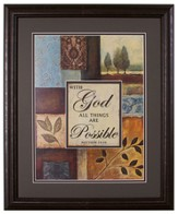 With God All Things Are Possible Framed Art