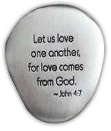 Love One Another Pocket Stone